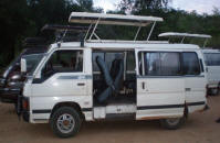 Hire safari car Entebbe, Kampala Uganda, safari mini van with driver, land caruiser 4x4 4wd